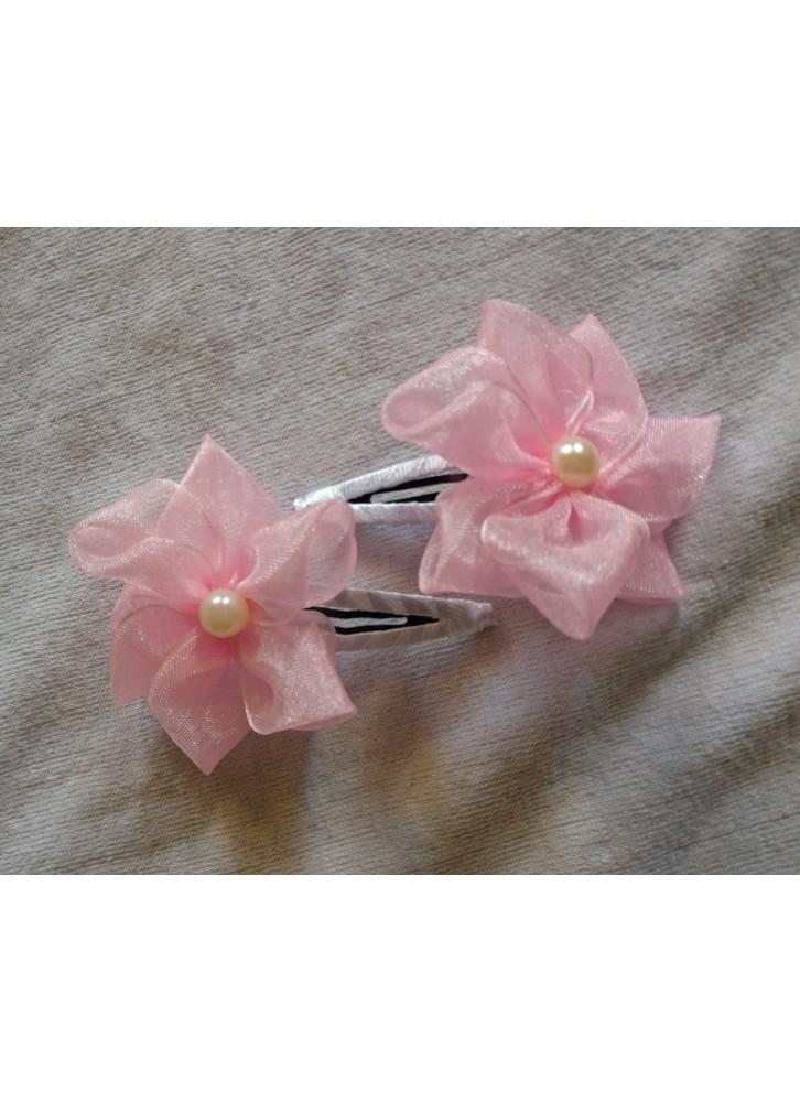 Pink flower baby hair clip mightylinksfo